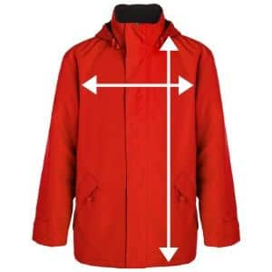 medidas de las chaquetas roly